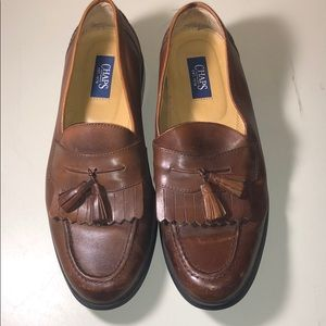 Chaps Brown Tassel Loafers Size 9.5 M